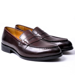 Dej Coffee Penny Loafers