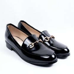 Dej Black Horsebit Loafers (low Heel)