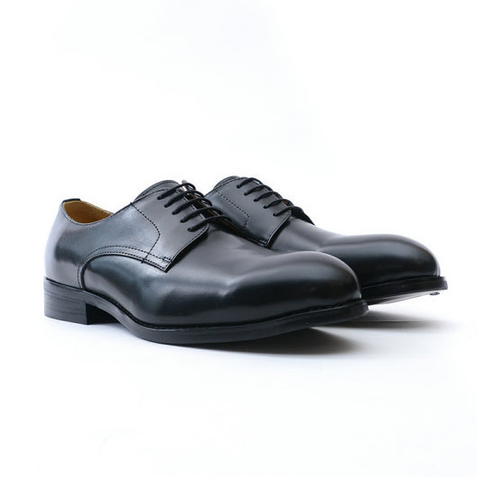 Dej Black 5-Eyelet Derby Shoes