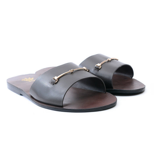 Dej Coffee Slim HorseBit Slippers