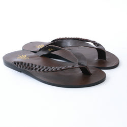 Dej Coffee Twist Thong Slippers
