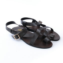 Dej Coffee Side Buckle Sandals