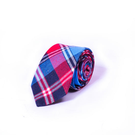 Dej 7cm Multicolored Checkered Wool Tie