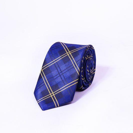 Dej 7cm Blue Checkered Silk-Jacquard Tie