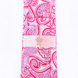 Dej 7cm Red Paisley Silk-Jacquard Ties