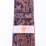 Dej 7cm Orange/Blue Paisley Silk-Jacquard Tie