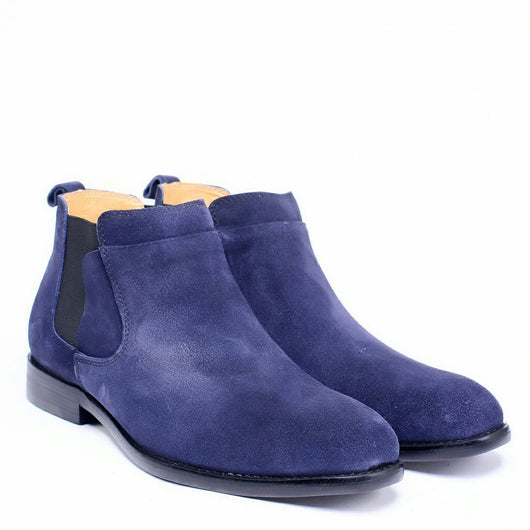 Dej Snuff Navy Chelsea Boots