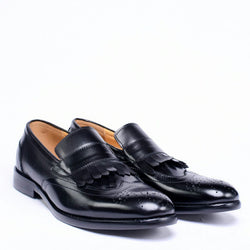 Dej Black Fringe Loafers (Slim)