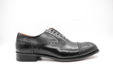 Dej Black Semi-Brogues