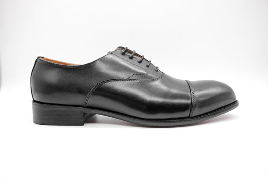 Dej Black Captoe Oxford (Wide)