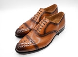 Dej Burnished Tan semi-brogues
