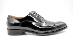 Dej Black Patent Captoe Oxford