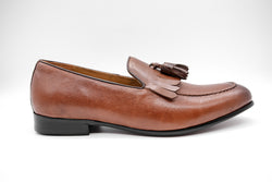 Dej Brown Fringe Tassel Loafers