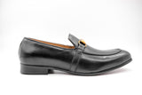Dej Black Brass Horsebit Loafers