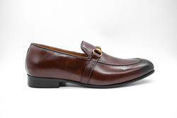 Dej Coffee Brass Horsebit Loafers