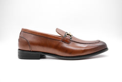 Dej Brown Horse bit Grosgrain Loafers