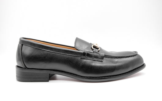 Dej Black Horse bit Loafers