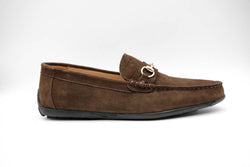 Dej New Brown Suede Horsebit Drivers