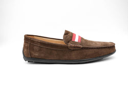 Dej New Brown Suede Grosgrain Drivers