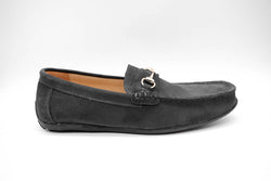 Dej New Black Suede Horsebit Drivers
