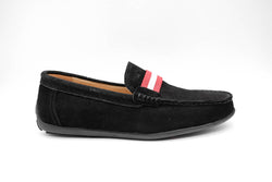 Dej New Black Suede Grosgrain Drivers