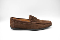 Dej New Brown Suede Penny Drivers
