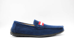 Dej New Blue Suede Grosgrain Drivers