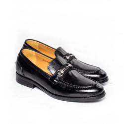 Dej Black Grosgrain HorseBit Loafers