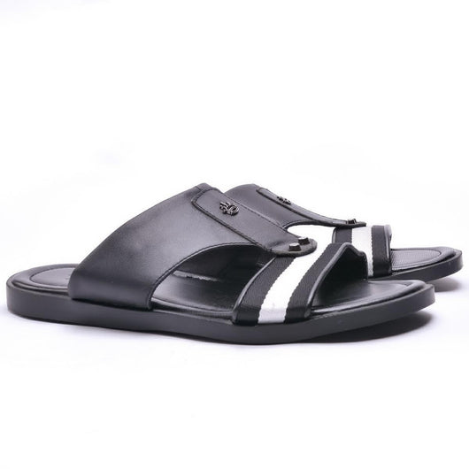 Dej Black Grosgrain Slippers