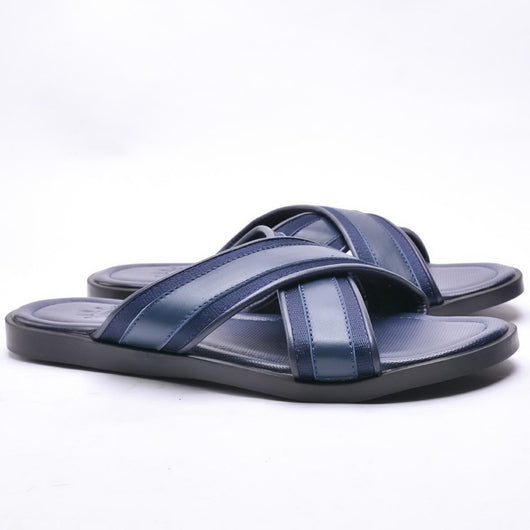 Dej Blue Grosgrain Slippers