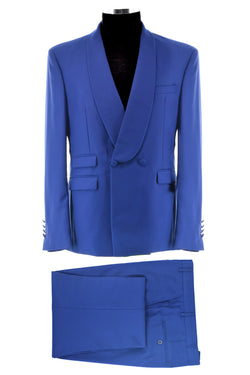Dej Electric Blue Double Breasted Suit