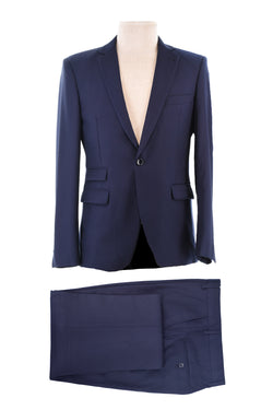 Dej Navy Blue Single Button Suit