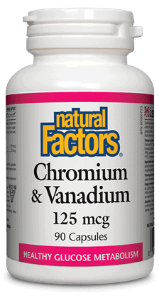 Chromium & Vanadium 125 mcg 90 capsules
