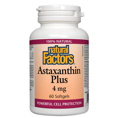 Astaxanthin Plus 4 mg - 60 softgels