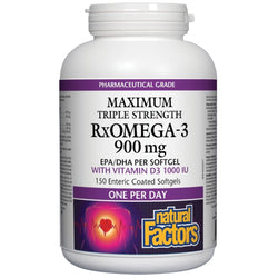 Maximum Triple Strength Rx Omega 3 - 900 mg - 150 softgels