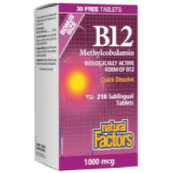 Vitamin B12 1 000 mcg - 210 sublingual tablets