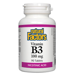 Vitamin B3 Niacin 100 mg - 90 tablets