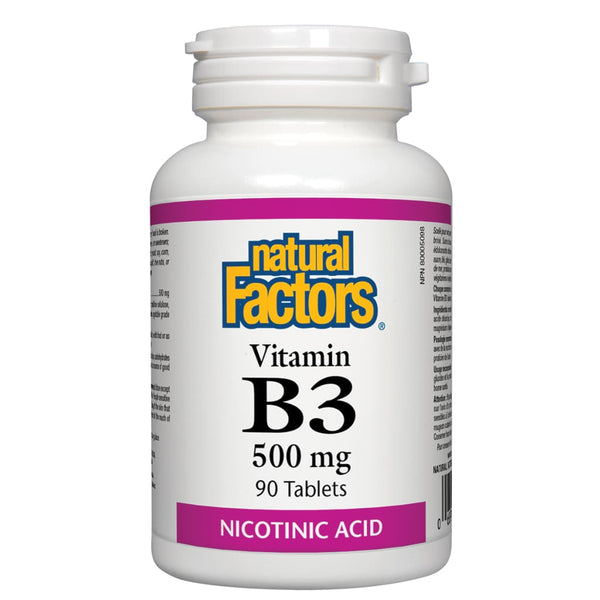 Vitamin B3 Niacin 500 mg - 90 tablets