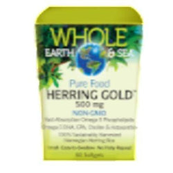 Whole Earth & Sea Herring Gold 1000 mg - 60 softgels