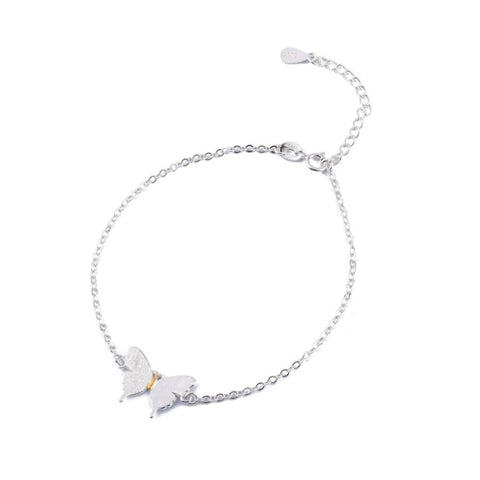 Image of Beautiful Silver Butterfly Bracelet