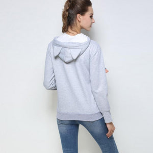 Cat Hoodie Sweatshirt with Animal Pouch