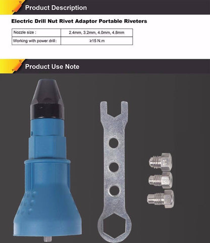Electric Rivet Nut Gun Riveting Tools