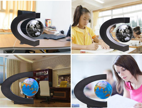 Figurines & Miniatures - LED Floating World Globe