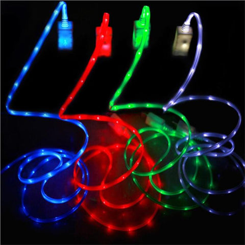 Mobile Phone Chargers - Bright LED Phone Charging Cable