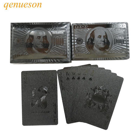 Image of Playing Cards - Black Waterproof Playing Cards