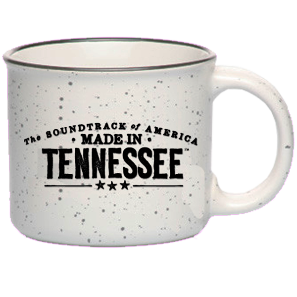 The Soundtrack of America Made in Tennessee Campfire Coffee Mug - Speckled White - PRE-ORDER