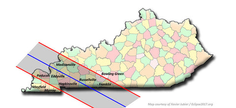 Kentucky Solar Eclipse Path