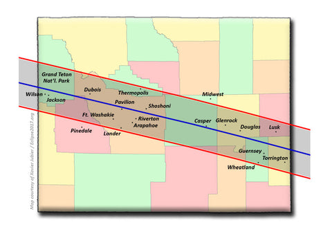 Wyoming Solar Eclipse Path