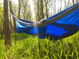 Double Hammock with Heavy Duty Tree Straps and Compression Strap