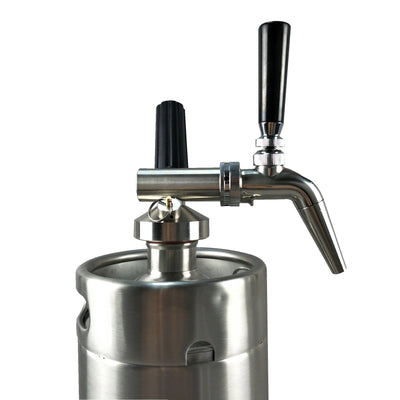 Keg Smiths Mini Keg System - Nitro with stout faucet - Keg Smiths - Premium Draft Kegs & Accessories